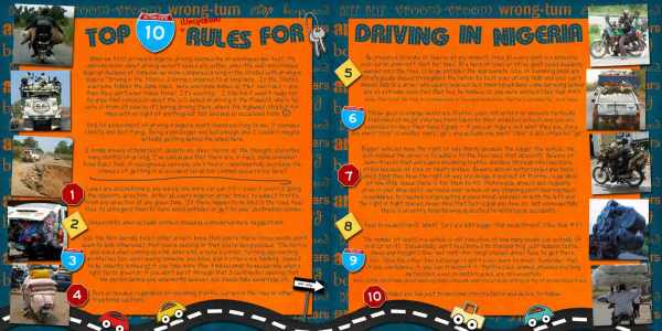 DRIVING RULES IN NIGERIA