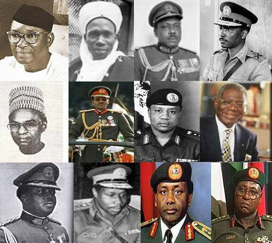 Nigeria - 1960 to 1999 Rulers