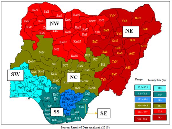 Nigeria Geographical Zones