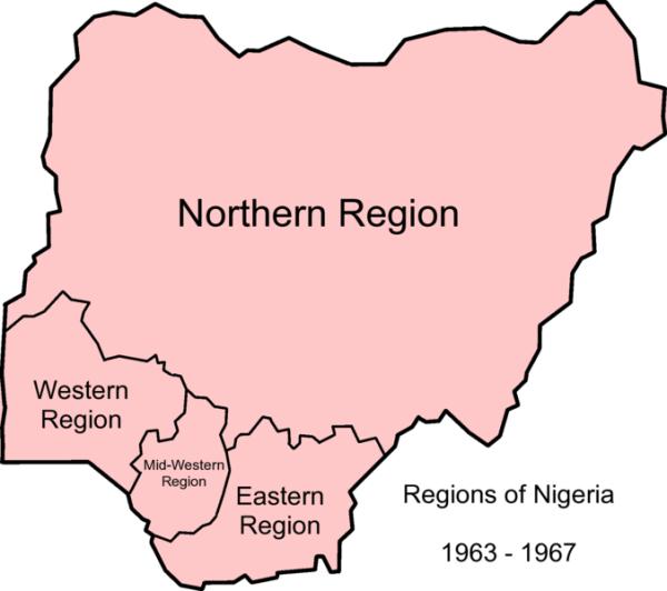 Nigeria Regions -1963-1967
