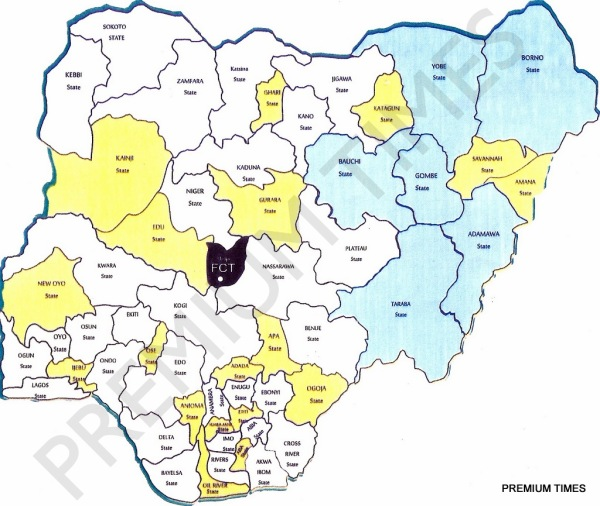 National Conference - New Map of Nigeria