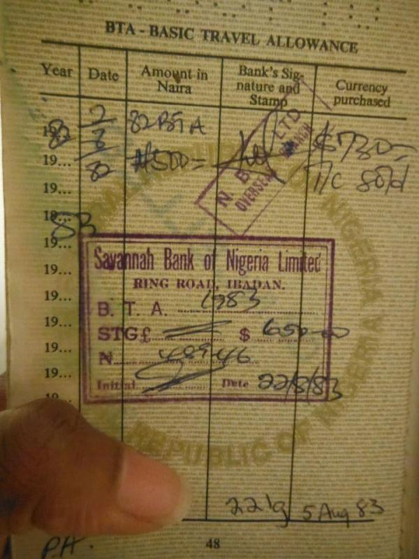 BTA - NAIRA VALUE IN1983